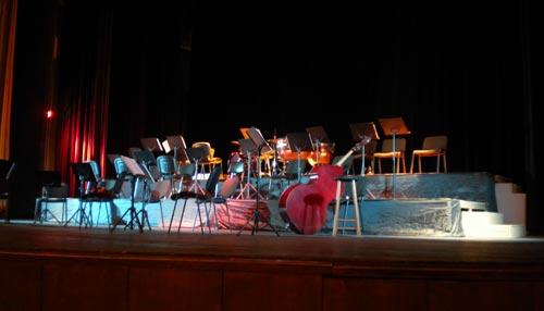 Щраусовият оркестър в Бургас: сцената