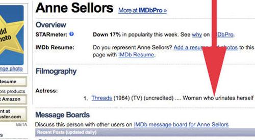 6 от най-нещастните профили в IMDB