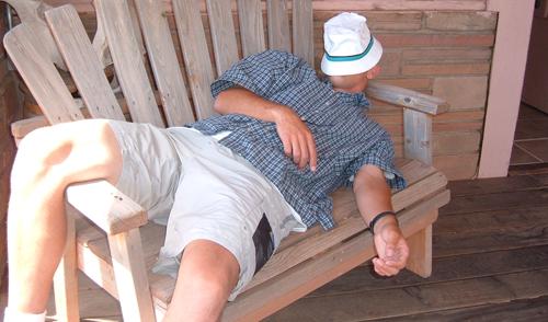 Спящ мъж