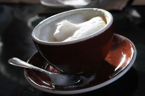 Кафе с пяна