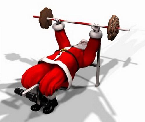 Дядо Коледа тренира