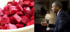 Барак Обама и червено цвекло