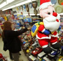 Дядо Коледа в супермаркет