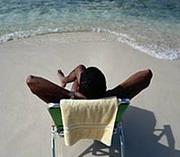 Мъж на плажа