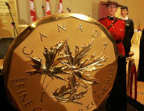 Най-голямата златна монета в света