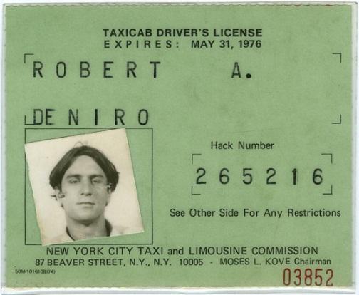 Робърт де Ниро, шофьор на такси