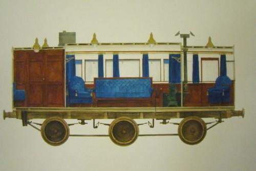 Рисунка на интериора на вагона на холандската кралица Анна Павловна