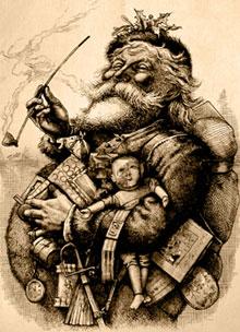 Дядо Коледа на Томас Наст