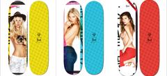Скейтборд със снимка на мацка