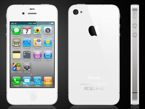 Бял iPhone