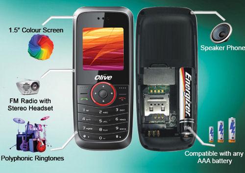 Телефон с ААА батерии