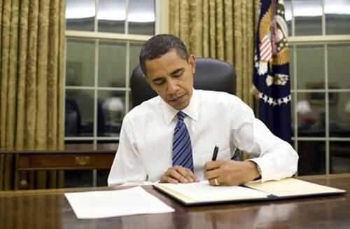 Барак Обама в кабинета си
