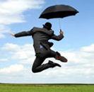 Мъж с чадър