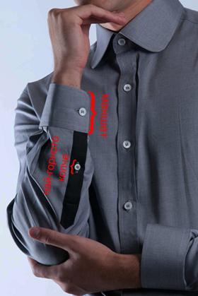 Как да навиеш ръкавите на ризата си - стъпка 1