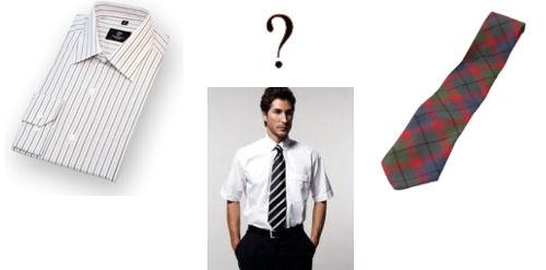Риза с къс ръкав с вратовръзка?