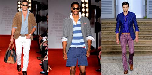 Мъжка мода за пролет 2012: синьо