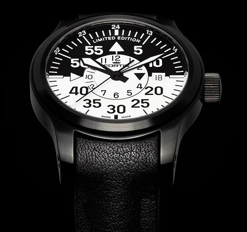 Fortis B-42 Flieger Black Cockpit GMT Watch